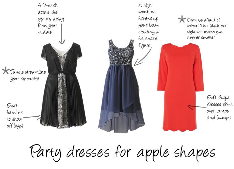 Image result for apple body shape dresses