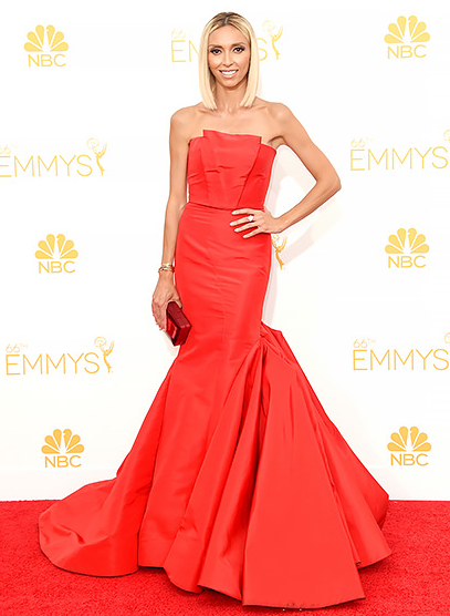 emmys, 66th emmy awards, emmy dresses, emmys fashion, emmys style, cat deeley emmys dress, lizzy caplan emmys dress, allison williams emmys dress, zooey deschanel emmys dress, kiernan shipka emmys dress, sarah hyland emmys dress, giuliana rancic emmys dress, claire danes emmys dress, fashion, style, celebrity, celeb style, fashion bloggers
